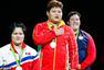 组图:举重女子+75KG孟苏平夺冠 颁奖高唱国歌