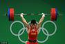 高清图:田涛举重85公斤摘银牌 振臂惊天狂怒吼