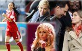 世界杯火热启幕,自然少不了美女明星助阵加温,少了英格兰太太团的南非世界杯却因为奥斯卡影后查理兹-塞隆...