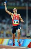 8月23日,美国队在北京奥运会男子4X400米决赛中夺得金牌。新华社/摄