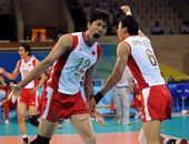 2008年8月14日,2008年北京奥运会男排小组赛,中国3:2胜日本。(osports)