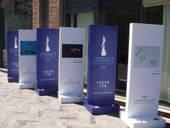 """奥运期间,四位""""2008马爹利非凡艺术人物""""携他们的艺术杰作来到今日美术馆(摄影:王薇)"""